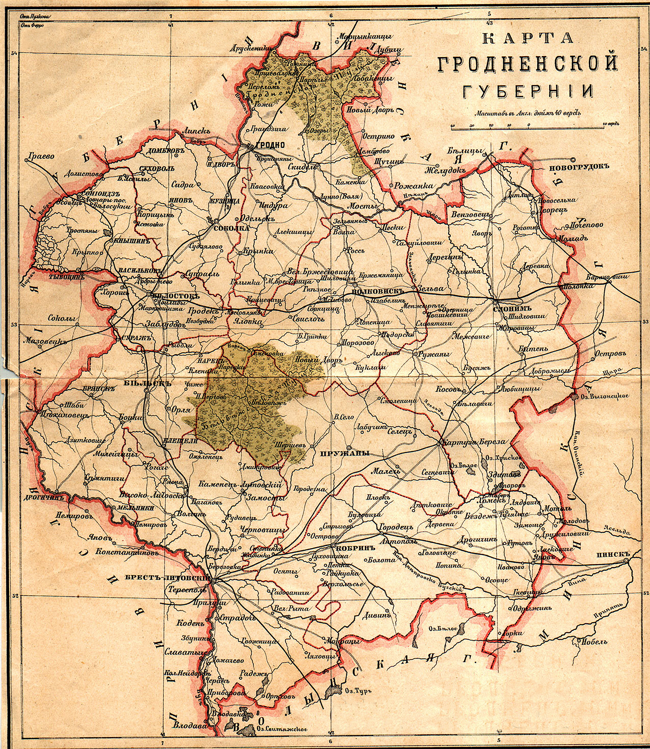 Карта трехверстовка российской империи тамбовской губернии