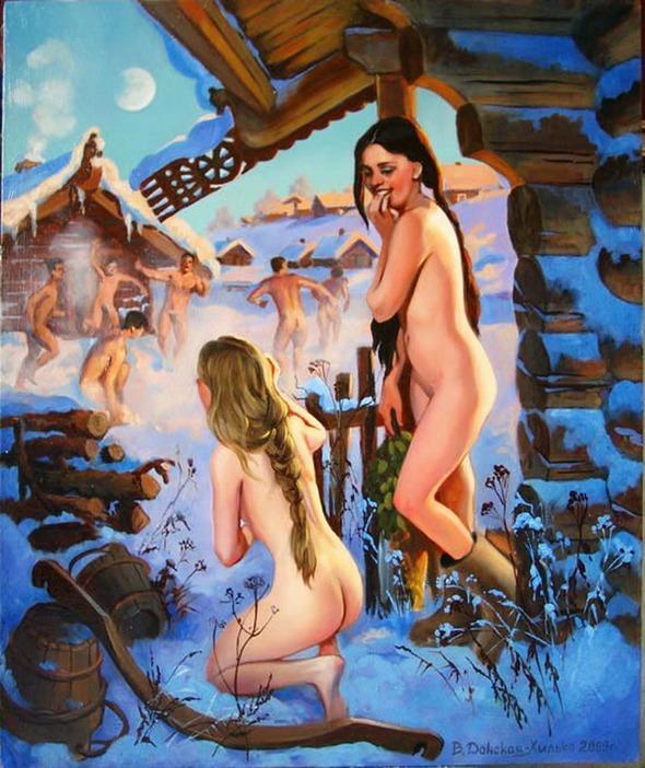 Эротика на ивана купала, удовлетворение пизды и сосков