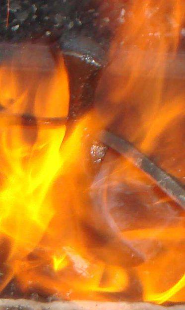 Топорик Выжигаем излишки масла