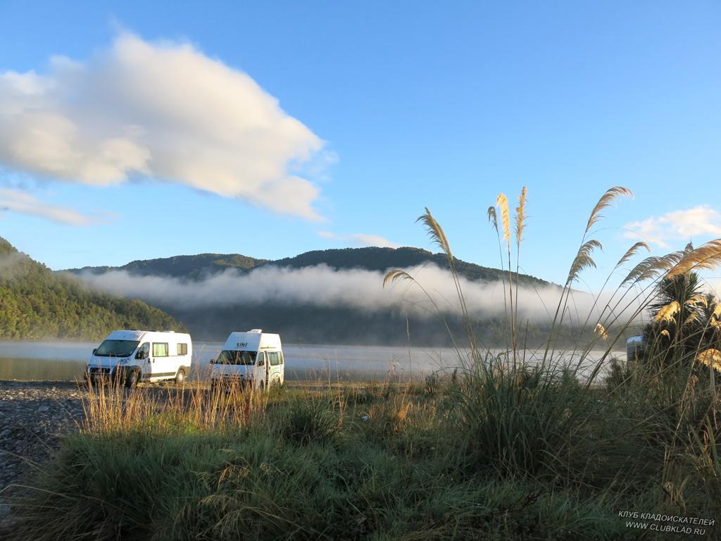 5-08 озеро Paringa Новая Зеландия 2013 март Ранее утро