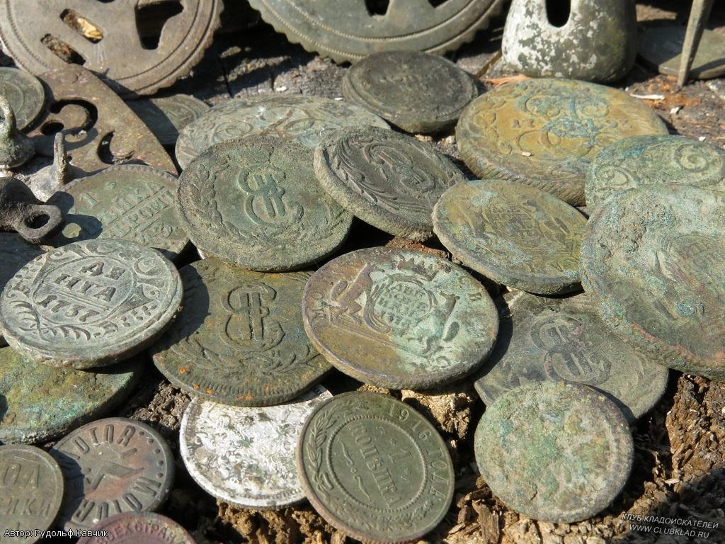 Малый круг по коровникам. где искать клады и монеты..