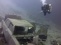 Жигули - копейка на дне Байкала, Листвянка. Глубина 25 метров.