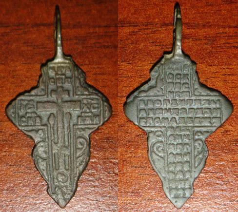 участие крестик лепесток с керамикой старинный цена медь хочется душе моей
